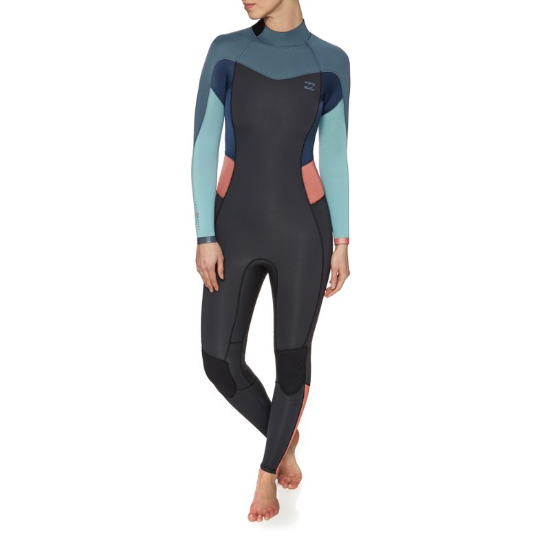 94f310961b Billabong 4/3 2018 Synergy Ez Back Zip Wetsuit - Agave
