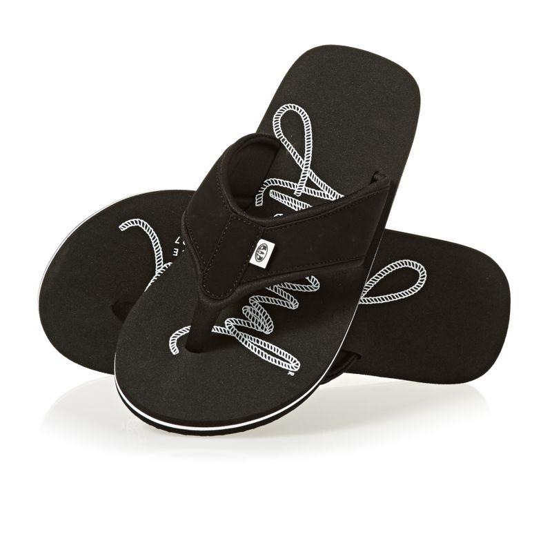 2706b31097680 Animal Swish Logo Flip Flops - Black
