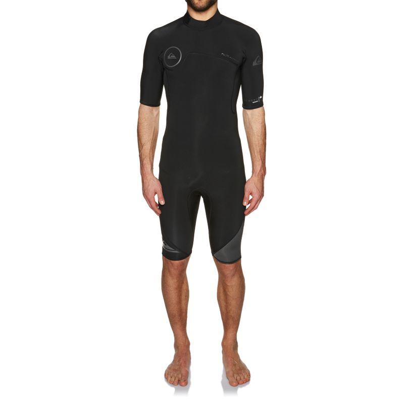 33aab30736 Quiksilver Syncro 2mm 2018 Back Zip Short Sleeve Wetsuit - Black  Jet Black