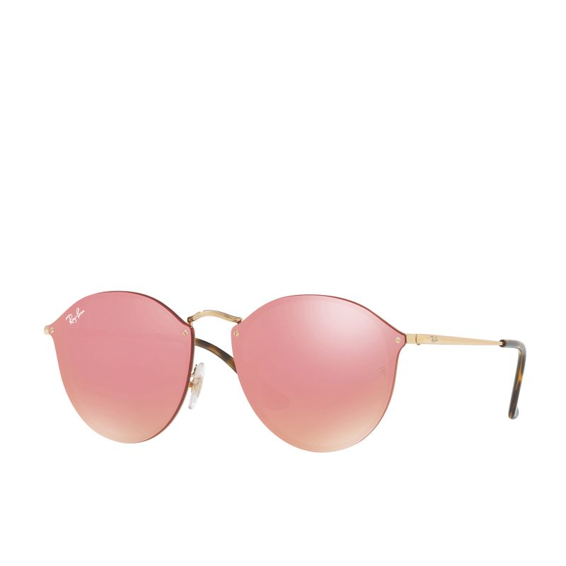 ba1d06fd840 Ray Ban Blaze Round Sunglasses - Gold  Pink Mirror Pink