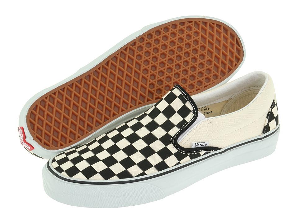 5d17163d8544e Classic Slip-on Core Classics (black And White Checker/white (canvas))