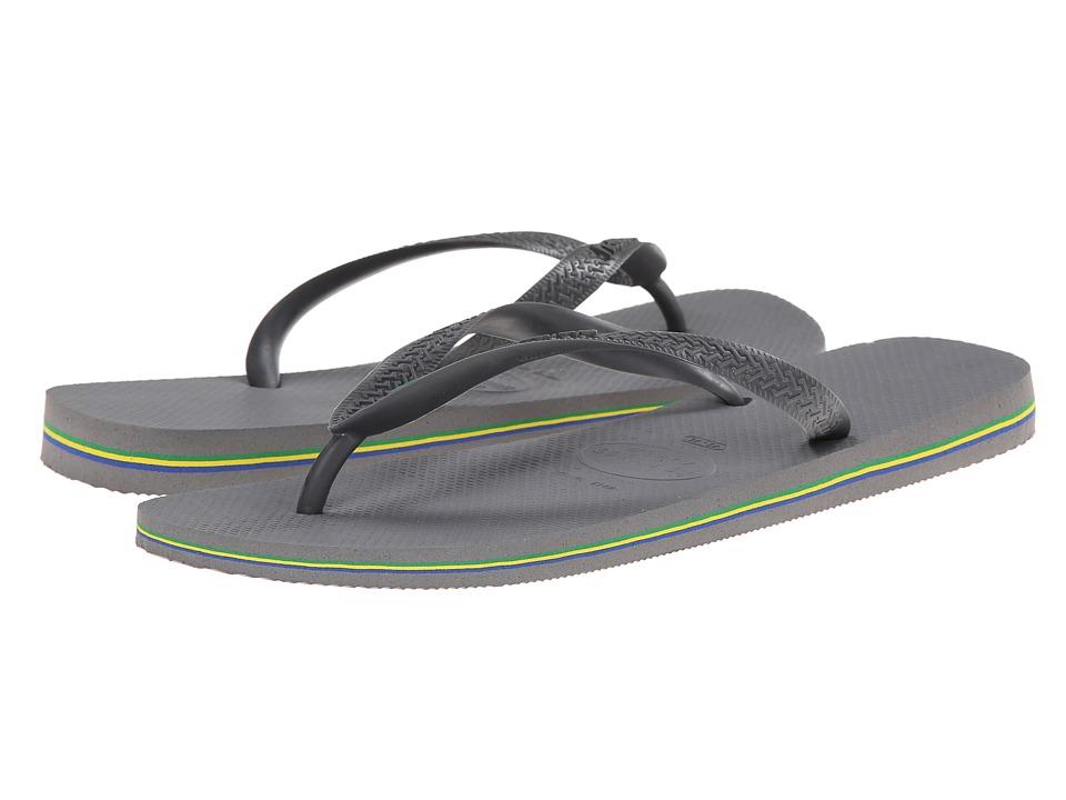 37834ad065104f Havaianas Brazil Flip Flops (steel Grey)